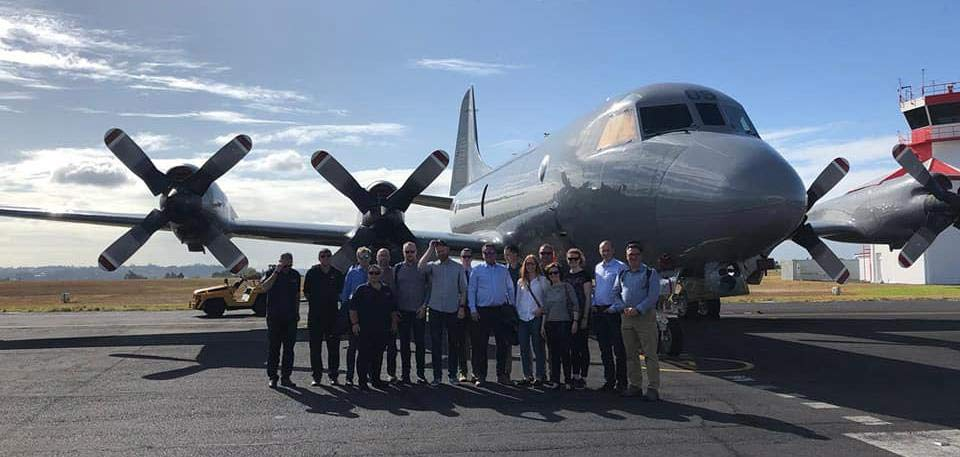 The participants were given presentations of the capabilities of the Royal New Zealand Air Force, as well as a tour in one of the P3 Orion aircrafts being used for search and rescue in Antarctica.